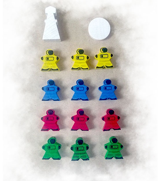 Martians: A Story of Civilization - Wooden markers